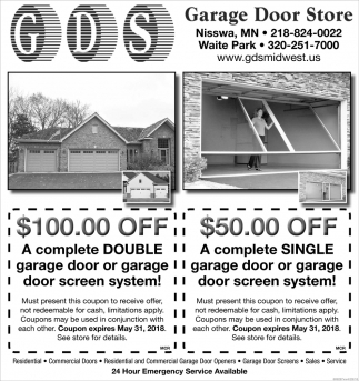 A Complete Double Garage Door Or Garage Door Screen System Garage