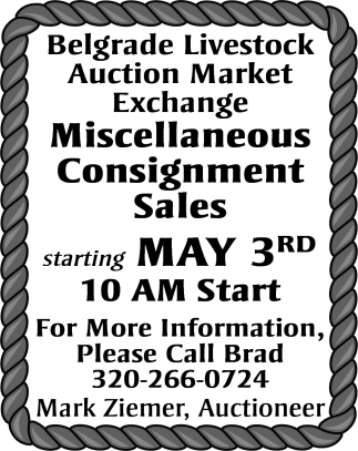 Miscellaneous Consignments Sales
