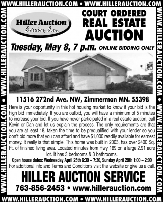 Court Ordered Real State Auction