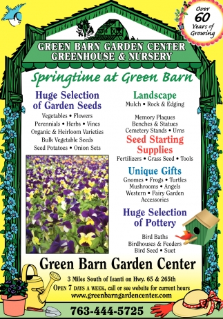 Greenhouse U0026 Nursery, GREEN BARN GARDEN CENTER INC, Isanti, MN