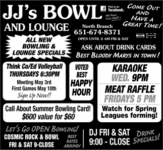 All New Bowling & Lounge Specials