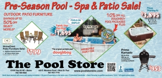 Pre-Season Pool, Spa & Patio Sale!