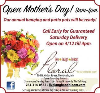Open Mother's Day!