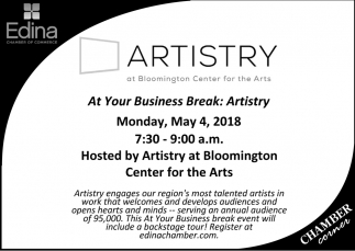 Artistry at Bloomington Center for the Arts