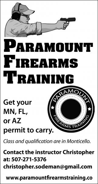 Paramount Firearms Training