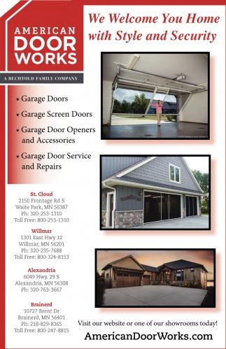 Garage Door Installers, AMERICAN DOOR WORKS, Waite Park, MN
