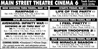 Now Showing Thru Wed, May 10