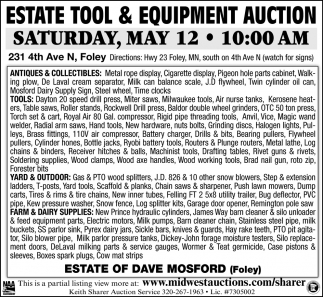 Estate Tool  & Equipment Auction
