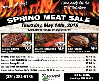 Spring Meat Sale