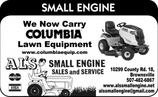 We Now Carry Columbia Lawn Equipment