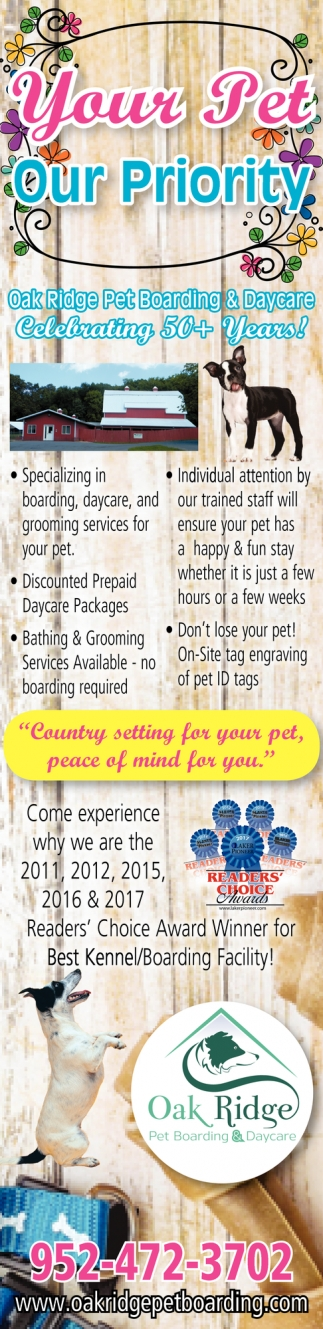Your Pet, Our Priority