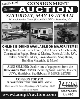 Consignment Summer Auction