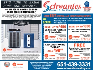 Best Heating Air Conditioning Company Schwantes Stillwater Mn