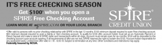 Free Checking Account