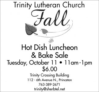 Hot Dish Luncheon Bake Sale