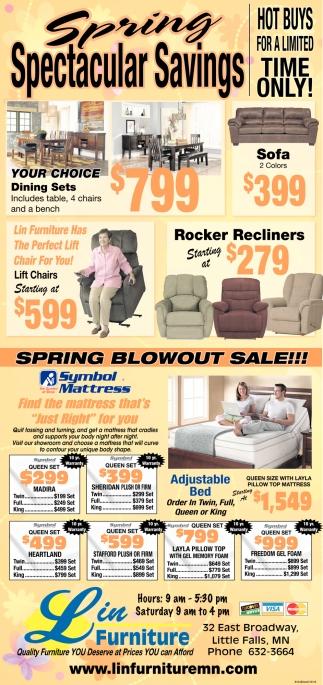 Spring Spectacular Savings