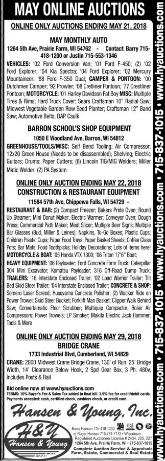 May Online Auctions