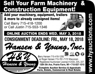 Sell Your Farm Machinery & Construction Equipment