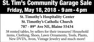 St. Tim's Community Garage Sale