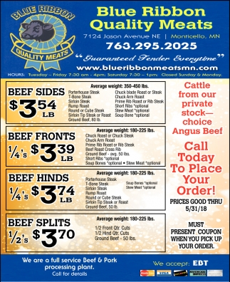 Blue Ribbon Quality Meats