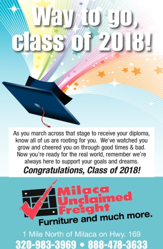 Way to go, Class of 2018!
