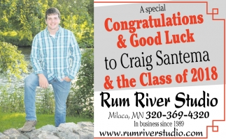 Congratulations & Good Luck to Craig Santema & the Class of 2018