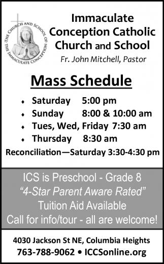 Mass Schedule