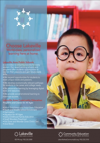 Choose Lakeville World-class, Personalized Learning Here at Home