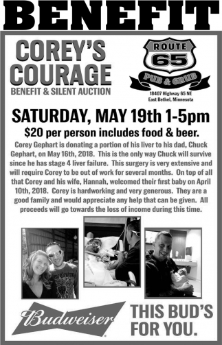 Corey's Courage Benefit & Silent Auction