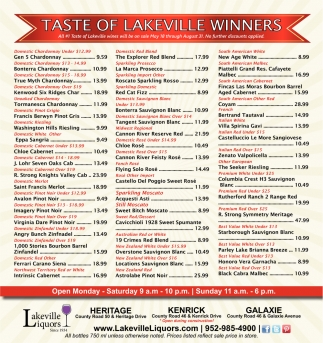 Taste of Lakeville Winners
