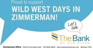 Wild West Days in Zimmerman!