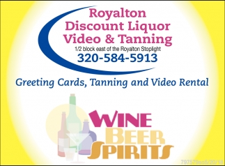 greeting cards tanning and video rental royalton discount liquor royalton mn - Discount Greeting Cards