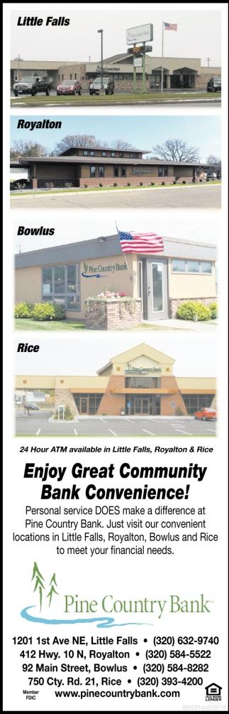 Enjoy Great Community Bank Convenience!