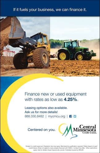 Finance New or Used Equipment with Rates as Low as 4.25%