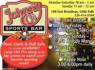 Johnny C'S Sports Bar Inc