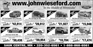 John Wiese Ford In the Middle of Minnesota
