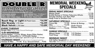 Memorial Weekend Special