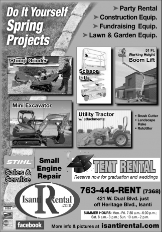 Do it yourself spring projects isanti rental isanti mn solutioingenieria Gallery