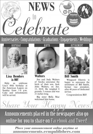 News to Celebrate