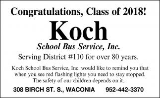 Congratulations, Class of 2018!