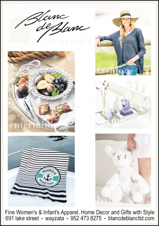 Fine Women's & Infant's Apparel, Home Decor and Gifts