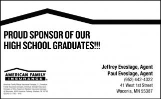 Proud Sponsor of Our High School Graduates!