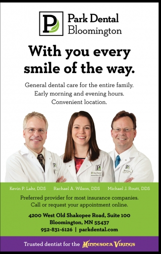 Park Dental, With you Every Smile of the Way