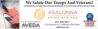 We Salute Our Troops and Veterans