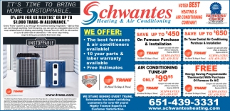 Voted Best Heating Air Conditioning Company Schwantes Stillwater Mn