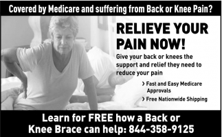 Covered by Medicare and Suffering from Back or Knee Pain?