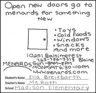 Open New Doors go to Menards for Something New