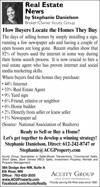How Buyers Locate the Homes They Buy