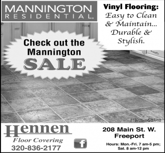 Check Out the Mannington Sale