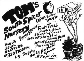 Tom's South Spicer Nursery